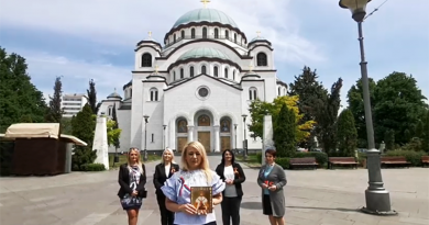 Сербия поздравляет Россию с 75-летием Великой Победы. Драгана Трифкович